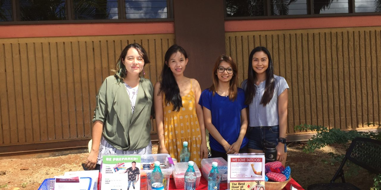Health Promotion Team, Blood Bank of Hawaii Host On-Campus Blood Drive