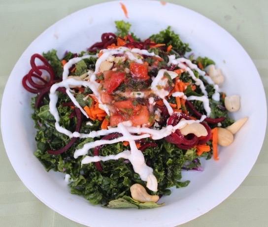 Kale salad from one of the food booths