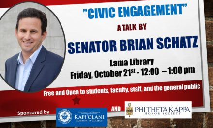 Senator Brian Schatz to Speak on Campus