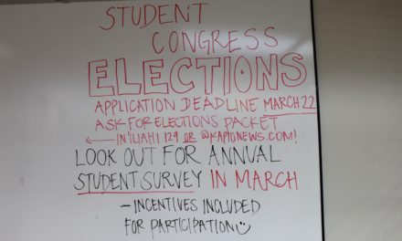 KCC's 2017 Student Congress Elections