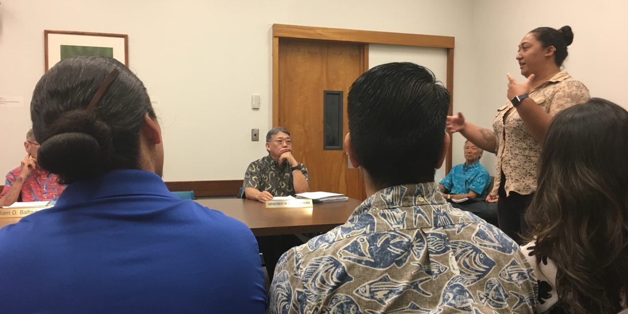 'Ike Wai Program Witness CWRM Meeting