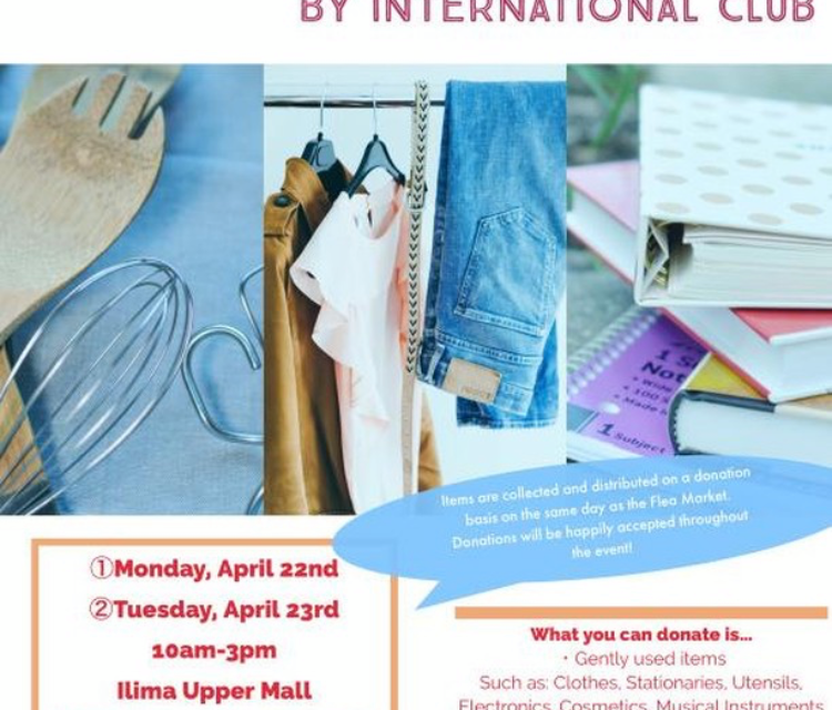 International Club to Host Flea Market