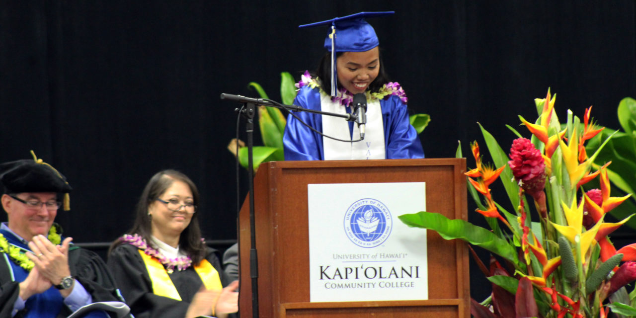 KCC's Valedictorian Graduates After 10-Year Break from Education